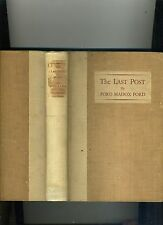THE LAST POST-FORD MADOX FORD- TRUE 1ST ED LITERARY GUILD, 1928-HB, VG-
