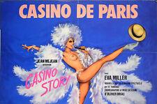 Affiche spectacle casino de Paris Casino story cabaret music hall Eva Miller