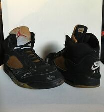 1999 Nike Air Jordan Retro 5 Black Metallic Men's Size 13 OG Vintage Rare Cement