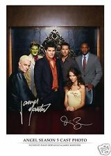 ANGEL - DAVID BOREANAZ & JAMES MARSTERS AUTOGRAPH SIGNED PP PHOTO POSTER