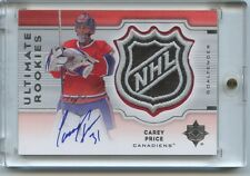 CAREY PRICE 07-08 UD Ultimate Collection ROOKIE ULTIMATE NHL SHIELD AUTO 1/1 RC