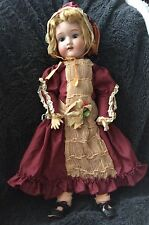 """Vintage Japan Bisque Porcelain 18"""" Doll Wood Body Ball Jointed Morimura Brothers"""