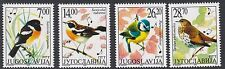 BIRDS: YUGOSLAVIA 2002 Songbirds set SG3331-4 never-hinged mint