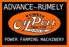 ADVANCED RUMLEY OIL PULL TRACTOR DECAL - POWER FARMING MACHINERY
