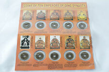 Ten Chinese Emperor Coin Replica Collection Set Feng Shui Protection w Desc