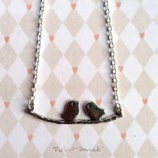 QUIRKY LOVE BIRDS ON BRANCH NECKLACE BOHO CHIC CUTE GIFT VINTAGE FRIENDS GIFT
