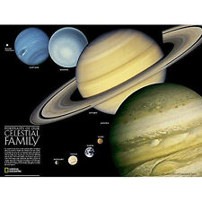The Solar System Laminated Wall Map