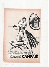 advertising pubblicita'  CORDIAL CAMPARI --   TRATTA DA RIVISTA ANNI '50