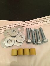 12mm Gloss Yellow Bonnet Raisers/Spacers Peugeot 106 Quicksilver GTI 306