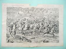 stampa antica gravure PARIGI EXPO 1889 battaglia di REICHSHOFFEN Amato MOROT