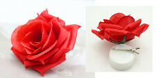 1pcs Romantic Silk Rose Hair Accessory Flower Hairpin Hair Clip For Prom Red