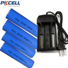 4x Li-ion Rechargeable 18650 Vape Mod High Drain Battery 2200mAh 3.7V+ Charger