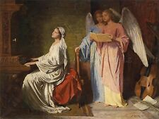 PAINTING ALLEGORY CHRISTIAN GLUCKLICH SAINT CECILIA ANGELS PRINT POSTER LF278