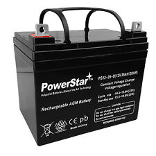 35AH 12VOLT DEEP-CYCLE SEALED LEAD ACID RECHARGEABLE BATTERY 35AMP HOUR 12V