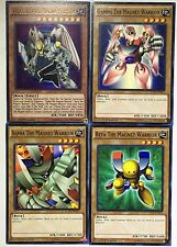 Yu-Gi-Oh YGLD  set of Valkyrion + Alpha + Beta + Gamma the Magna Magnet Warrior