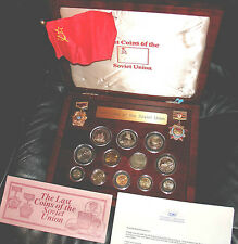 GOLD COIN CHERVONETZ RUSSIAN COINS SOVIET UNION AND PROOF PF PR SET RUSSIA USSR
