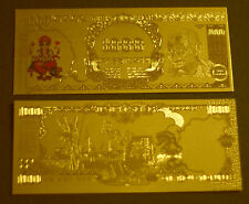 """ Original"" Gandhi 1000 India Rupee - Pure 24K Gold Banknote/Bill - Stunning !"