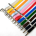 Mens/Womens Elastic Suspenders Adjustable Y-Back Clip-on Braces 12Colors
