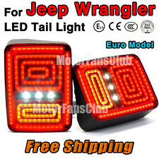 Neuf Red LED Rear Break Tail Light Lamp 2PCS Assy For Jeep Wrangler 2007-2015