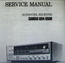 Sansui QRX-5500 4 channel receiver service manual inc Schems imprimé anglais