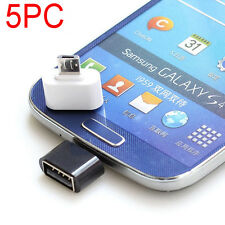 5PCS Micro USB Male to USB 2.0 Adapter OTG Converter For Tablet Cell Phones