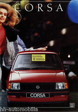 Prospekt Opel Corsa 3/88 Autoprospekt Broschüre 1988 Auto PKWs brosjyre brochure