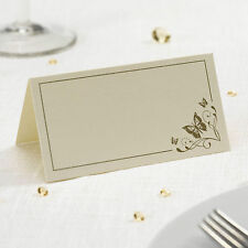50 TABLE PLACE CARDS Name Setting IVORY GOLD BUTTERFLY Wedding 50th Anniversary