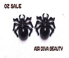 New Women lady Gothic Halloween Black Scary Spider Bugs Party Earrings Ear Studs