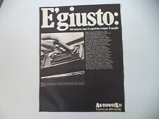 advertising Pubblicità 1969 AUTORADIO AUTOVOX MELODY MA 361
