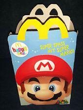McDonald 'S HAPPY MEAL 2015 30th Super Mario Bros originale di cartone CONTENITORE BOX NUOVO