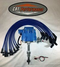 BIG BLOCK FORD HEI Distributor 351C,351M,400,429,460 & BLUE Spark Plug wires USA