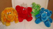 KODAK KOLORKINS LOT OF 4 VINTAGE 1989 PLUSH TOYS COLORKINS