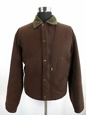 Mens LEVIS Jacket, Size M, Brown, denim trucker jacket, made in Italy NDR456