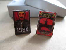 George Orwell Book Cover Cufflinks - 1984 and Animal Farm (nineteen eighty four)