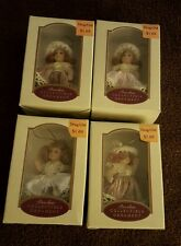 "Lot of  4 Porcelain Collectible Ornament Dolls Hand Painted 5"" DG COLLECTIONS"