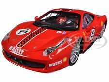 FERRARI 458 CHALLENGE #5 RED 1/24 DIECAST MODEL CAR BY BBURAGO 26302