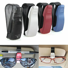 Car Auto Plastic Sunglasses Glasses Card Pen Ticket Holder Clip Black 1Pc