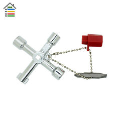 4 Way Cross KEY Tool Alloy Square Triangle For Train Electrical Cabinet Elevator
