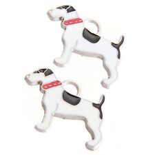10pcs Black&White Enamel Rhodium Plated Alloy Animal Dog Pendants Charms Craft D