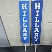 HILLARY CLINTON DNC DEMOCRATIC NATIONAL CONVENTION Philly FLOOR USED SIGN -4Ft !