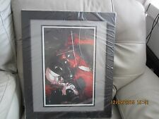 DEADPOOL AND DOMINO  PRINT DRAWN AND SIGNED BY JASON PEARSON 18 X 22 FRAMED