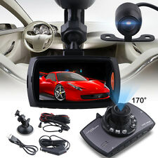 Dual Kamera Dashcam  170°140° 2.7 Full HD DVR Auto camera dash Recorder G-Sensor