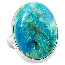 Chrysocolla - Peru 925 Sterling Silver Ring Jewelry s.6.5 CCPR69