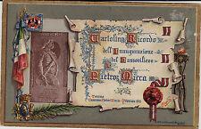 #TORINO 1911- CART. RICORDO INAUGURAZIONE BASSORILIEVO A PIETRO MICCA