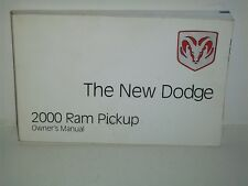 2000 Dodge Ram Pickup truck owners manual