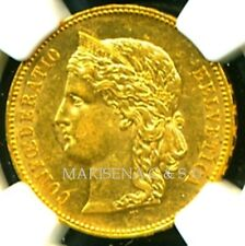 SWITZERLAND 1892 B GOLD COIN 20 FRANCS * NGC CERTIFIED GENUINE AU 55 * SUPERB