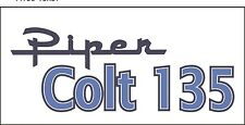A155 Piper Colt 135 Airplane banner hangar garage decor Aircraft signs