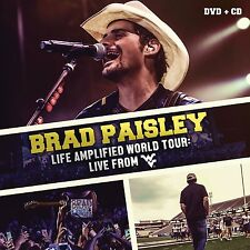 BRAD PAISLEY :LIFE AMPLIFIED WORLD TOUR (CD + DVD) Sealed