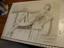 MARGE O'CONNELL drawing: charcoal: NUDE WOMAN 18 X 24 sketch #24