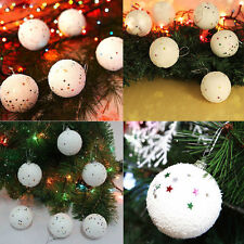Xmas Tree Hanging Decoration 12PCS 4CM Christmas Snowball Balls Party Ornaments